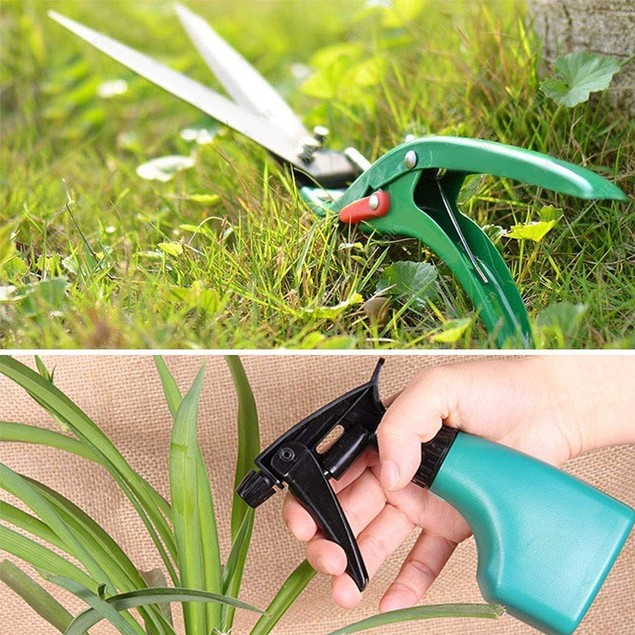 Gardening Tools Set, 10 Pieces Garden Tools Kit, Multifunctional Gardening Gifts for Gardeners Men Women, Green