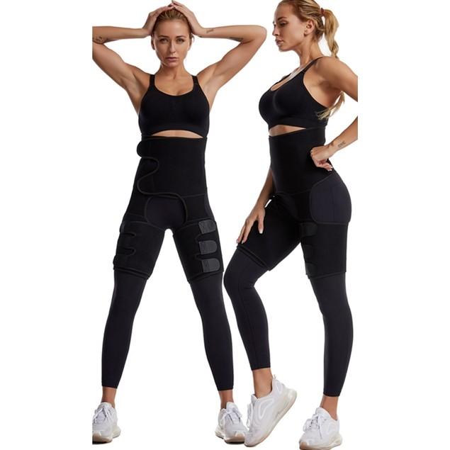 Women's Sports Adjustable One-Piece Waist And Leg Straps