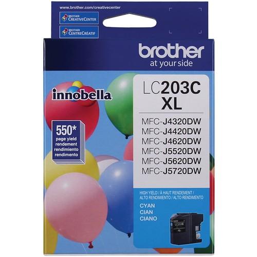 Brothers Brother Printer LC203C High Yield Ink Cartridge, Cyan