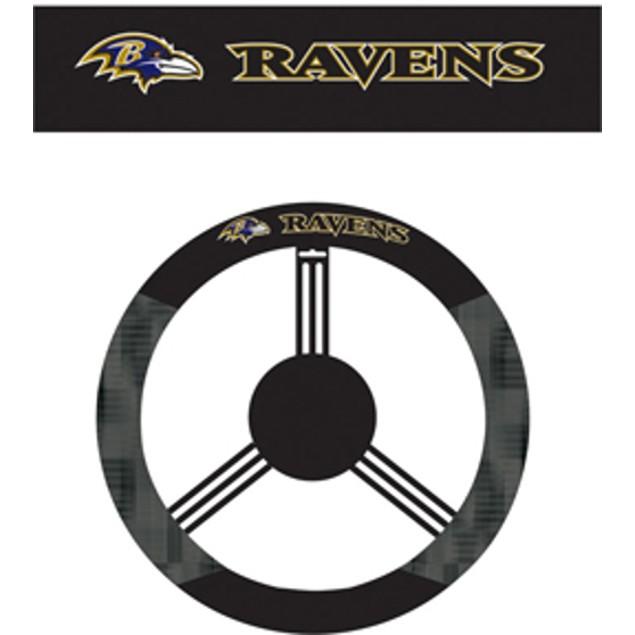 Baltimore Ravens Steering Wheel Cover NFL Football Team Logo Poly Mesh