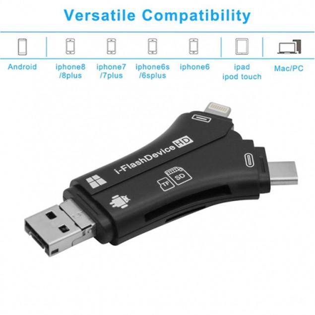 4-in-1 Media Transfer with Memory Card