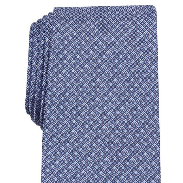 Tasso Elba Men's Mini Silk Tie Blue Size Regular
