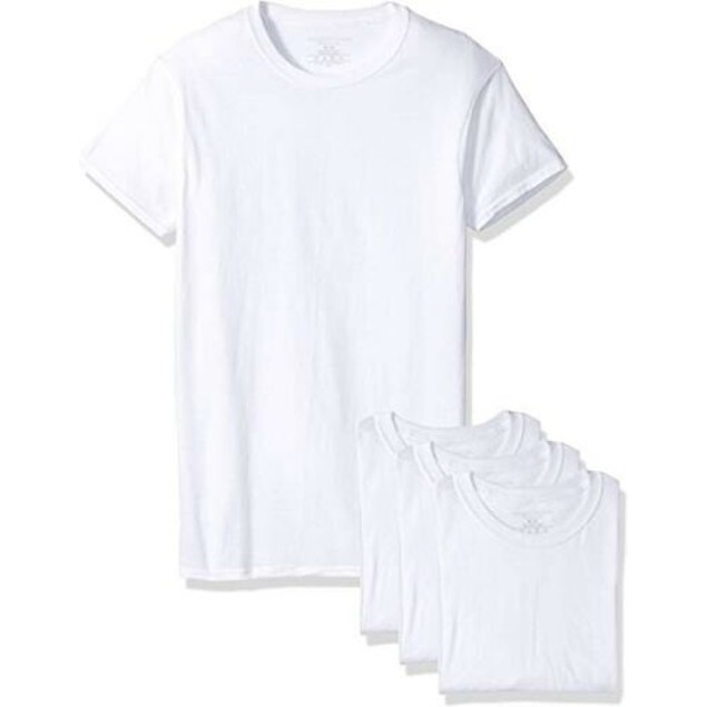 4-Pack Fruit Of The Loom Men's T Shirt 100% Cotton White Size XL