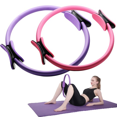 Pilates Ring 15'' Yoga Fitness Circle for Toning Sculpting Thighs Legs