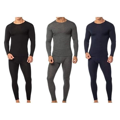 2-Pack Men's Cotton Fleece Thermal Set