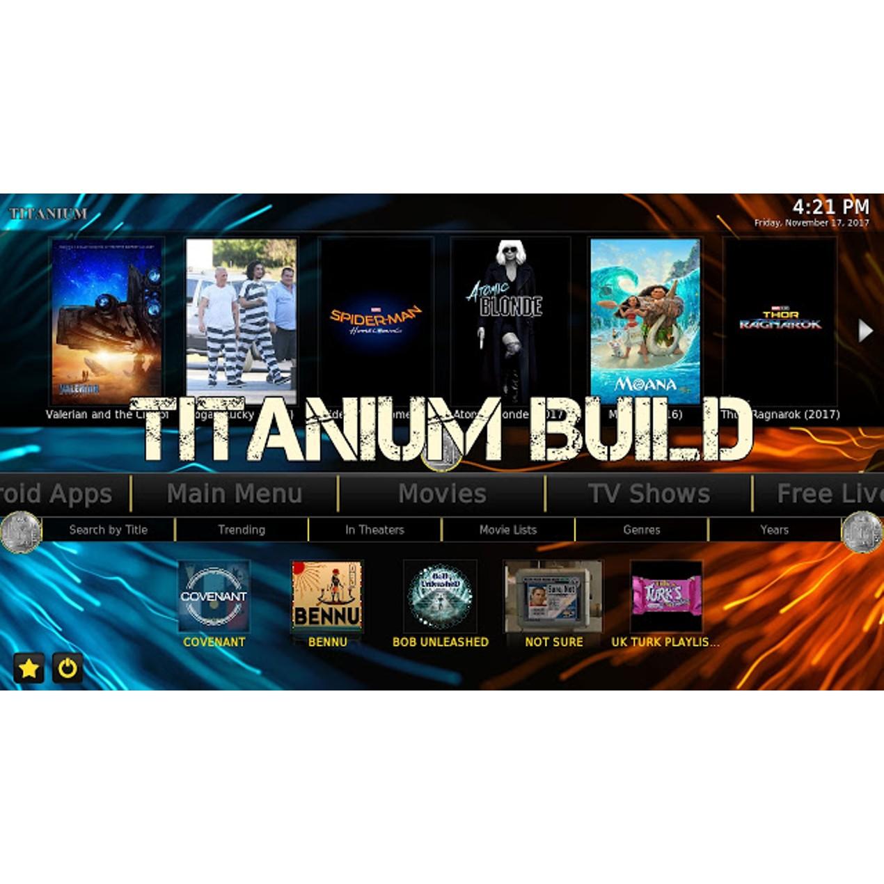 Amazon Fire Stick Titanium Build KODI 17 6 Movies Shows Sports Live
