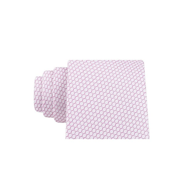 Calvin Klein Men's Micro Hexagons Slim Tie Pink Size Regular