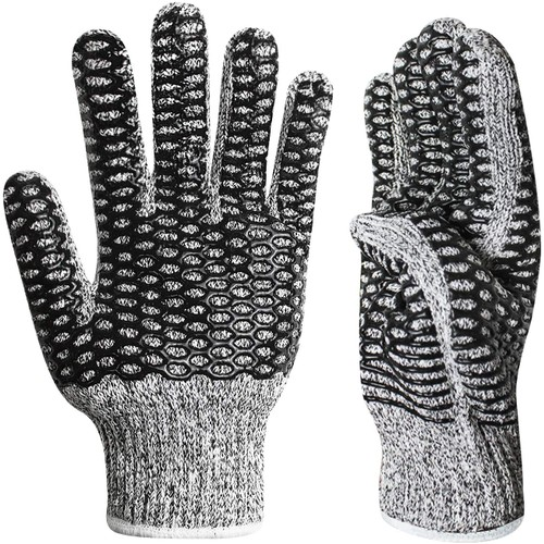 EvridWear Cut Resistance Dual Layer String Knit Work Warehouse Gloves