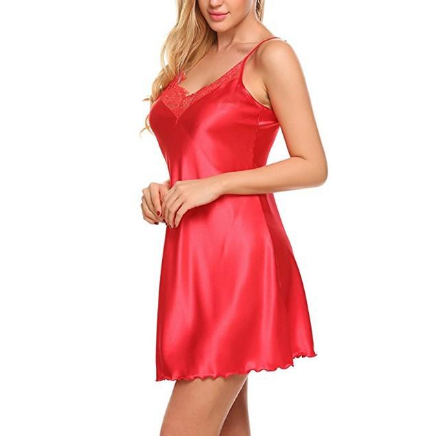 Women Lace Spice Lingerie G-String Strap Dress Sleepwear Underwear RD/L