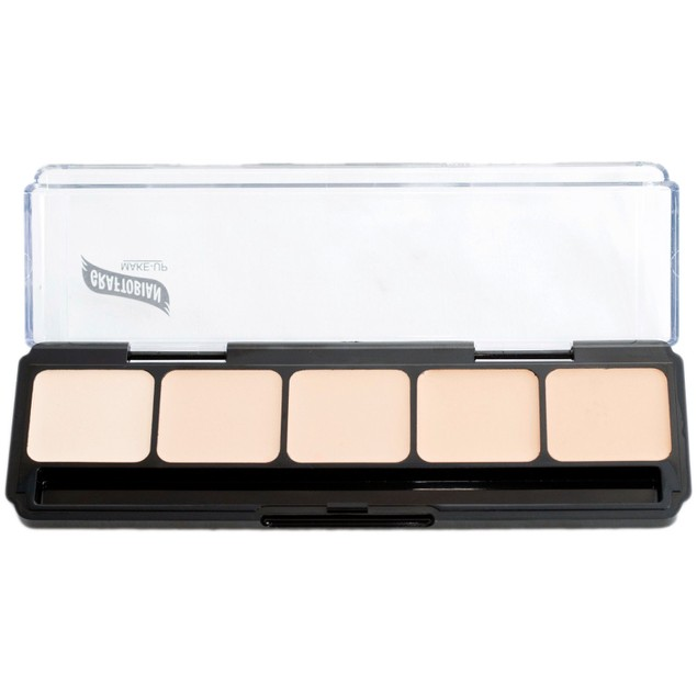 Neutral Palette #1 HD Glamour Creme Foundation Palette Graftobian 5 Shades