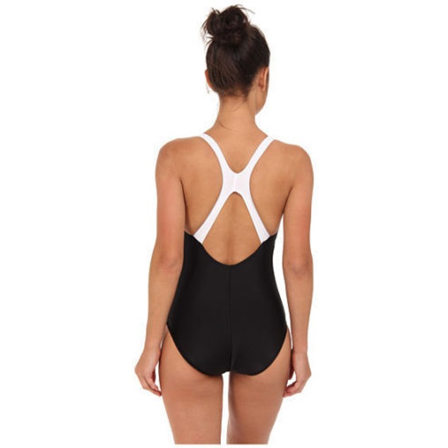 NEW Speedo Contemporary Ultraback One-Piece Swimsuit,Black, SIZE 10