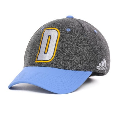 """Denver Nuggets NBA Adidas """"Center Court"""" Stretch Fitted Hat"""