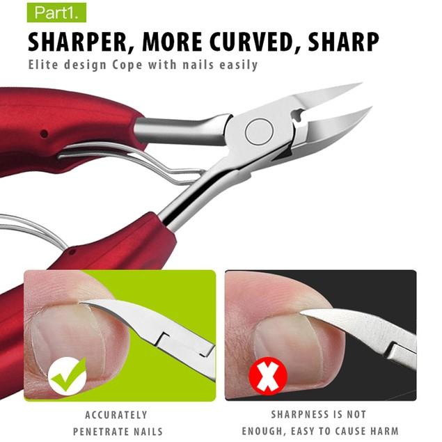 Podiatry Toe Nail Clippers for Thick/Heavy Duty Nails