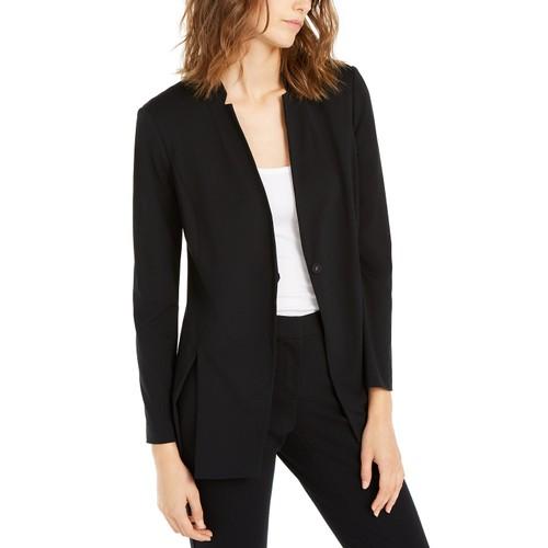 Alfani Women's One-Button Slit Blazer Jacket Black Size Small