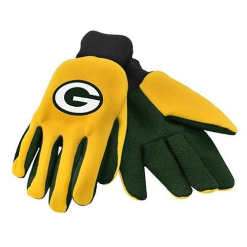 Green Bay Packers NFL Work Gloves(Pair) Football Team Logo Grip