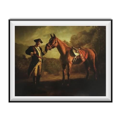 Napoleon Tony Soprano And Pie-O-My Horse Painting Poster 18 x 24