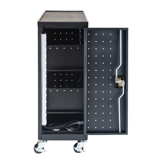 Luxor 12 Laptop/Chromebook Compact Charging Cart - Black