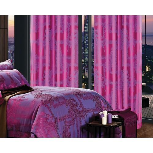 Dolce Mela DMC461 Window Treatment Damask Drapes Cliodna Curtain Panel
