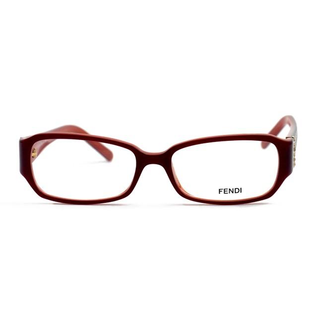 Fendi Eyeglasses Women Red Full Rim Rectangle 51 16 135 F777R 613