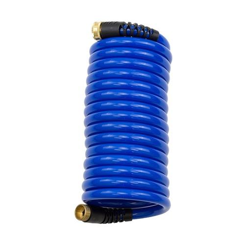Hosecoil 15' Blue Self Coiling Hose With Flex Relief