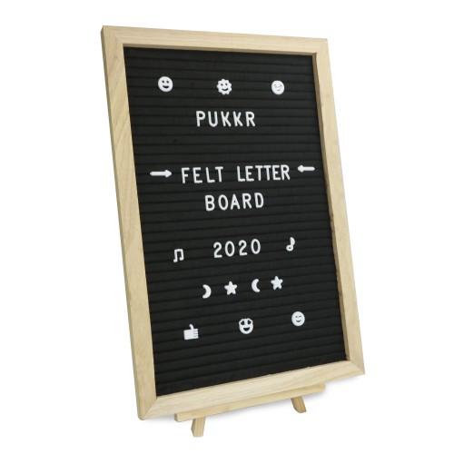 Pukkr Felt Letter Message Board 12x18In