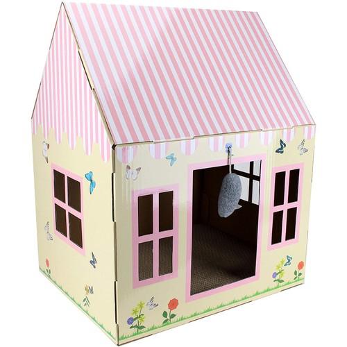 Midlee Cottage Cat Scratcher House