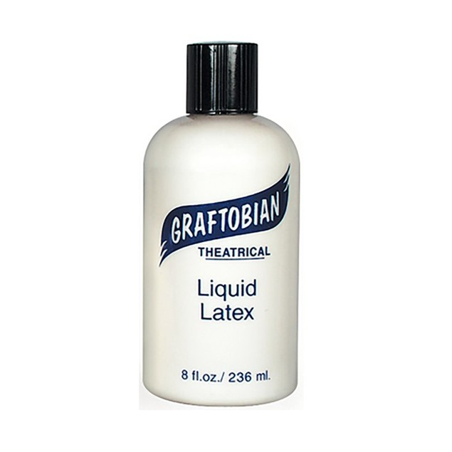 Clear Liquid Latex 8oz. Graftobian Cruelty Free USA Makeup