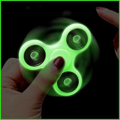 Glowing Plastic Fidget Spinner Anti Stress Toys