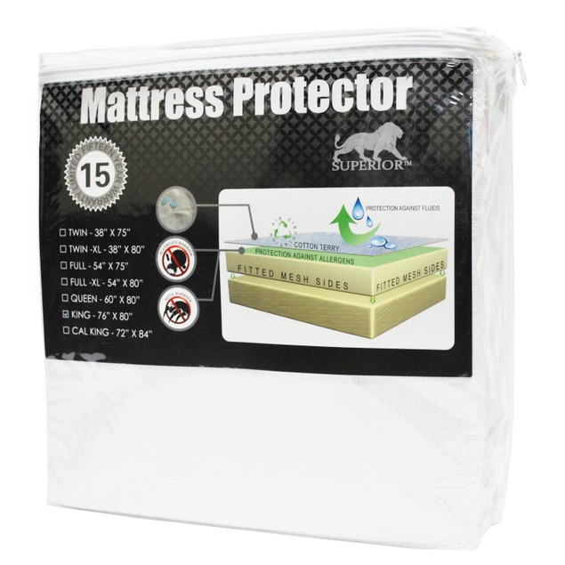Waterproof and Hypoallergenic Cotton Mattress Protector
