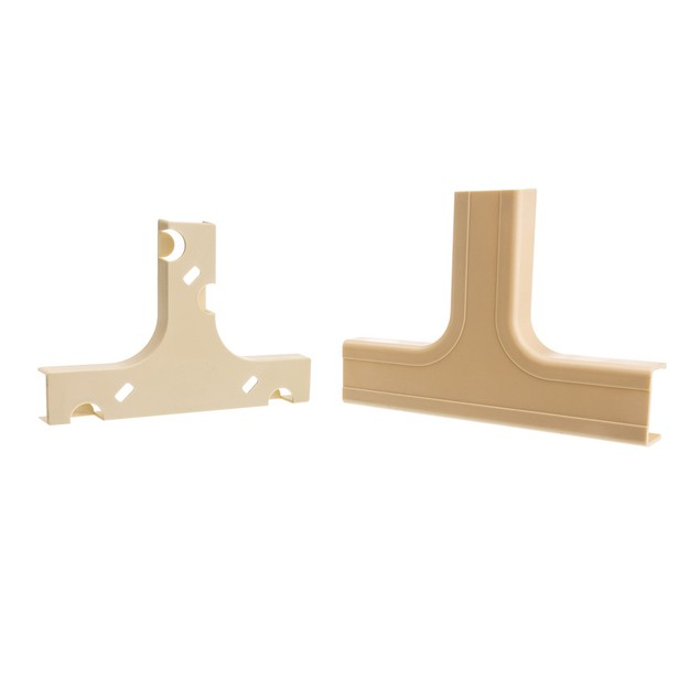 1.25 inch Surface Mount Cable Raceway, Ivory, Tee