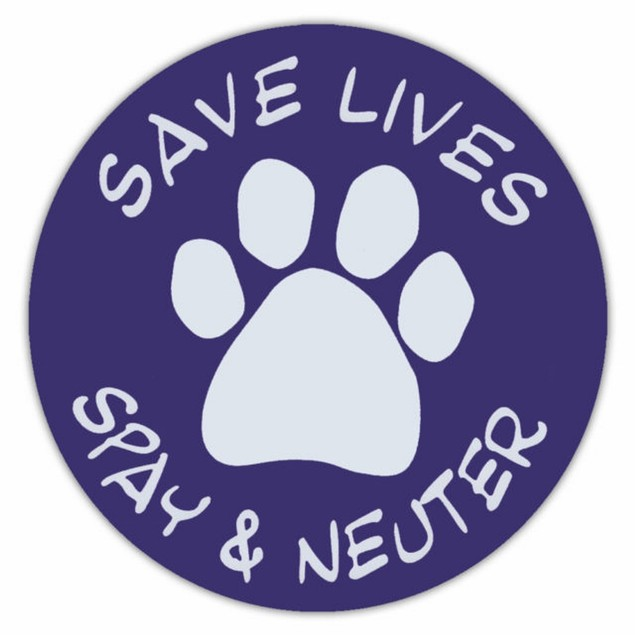 Save Lives Spay and Neuter Magnet