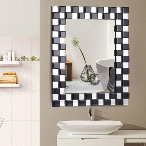 Costway 23.5'' x 31.5'' Rectangular Wall-Mounted Wooden Frame Vanity Mirror