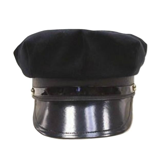 Black Chauffeur Cap