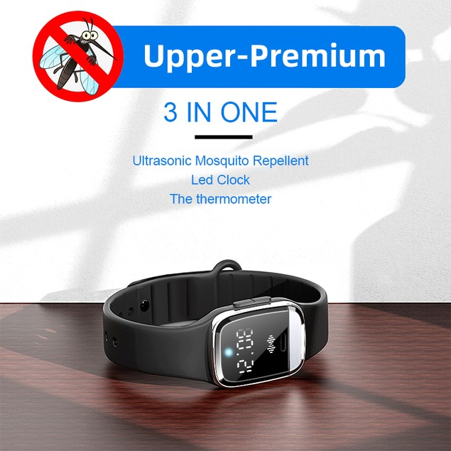 Ultrasonic Mosquito Repellent Watch With Thermometer V3