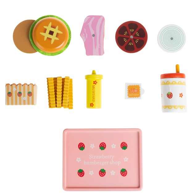 Fast Food Meal Playset –Kid's Dinner with Cheeseburger, Drink, Fries