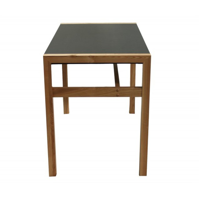 Proman Products Modern Solid Wood Frame Rico Deluxe Desk with Veneer Top