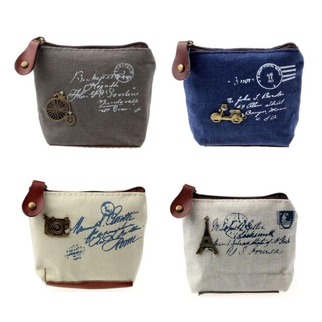 Girl Retro Coin Bag Purse Wallet Card Case Handbag Gift Eiffel Tower
