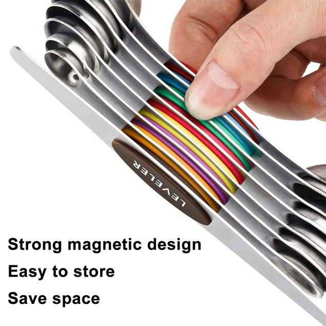 Stainless Steel Magnetic Measuring Spoons (Set of 7)