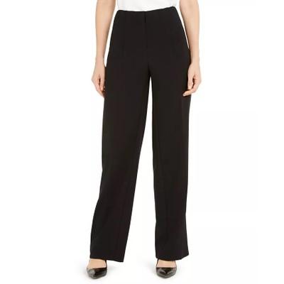 Alfani Women's Pleated-Waist Trousers Black Size 12