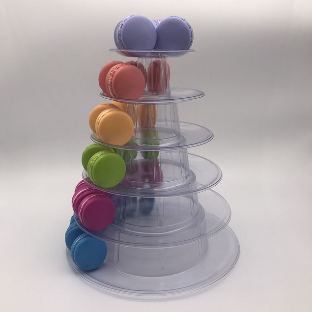 6 Tier Wedding Birthday Bakery Macron Cupcake Display Tower Stand