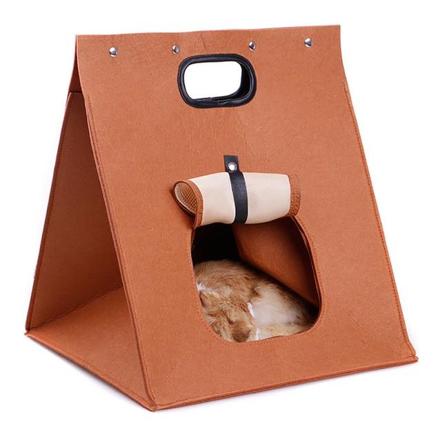 Pet Dog Warm Foldable Sleeping Bag Bed  Dog Kennel Cat Bed Cave