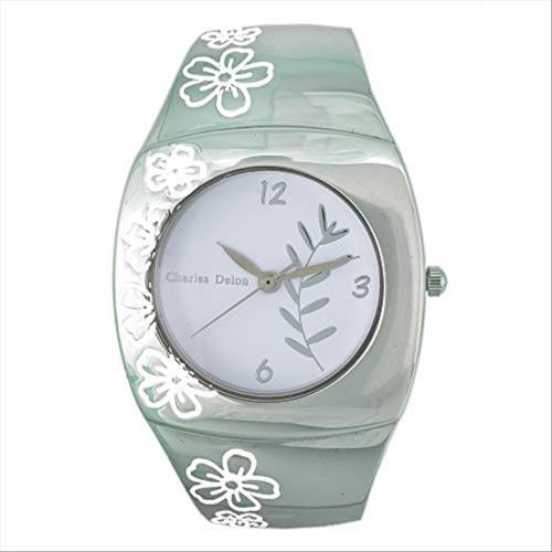 Charles Delon Women's Watches 5163 LPWW Silver/Flowers White/Silver Quartz Round