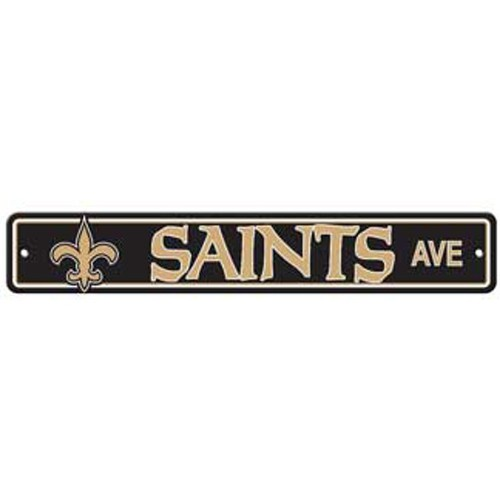 "New Orleans Saints Ave Street Sign 4""x24"""