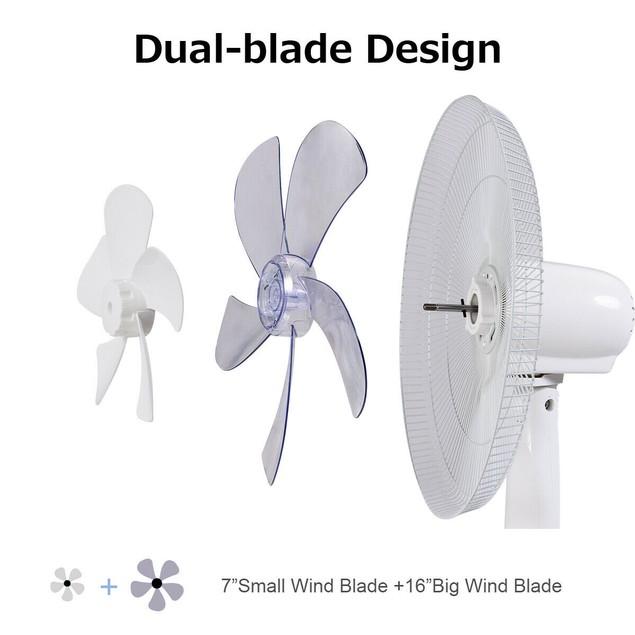 Fantask 16'' Oscillating Pedestal Fan w/ Remote Control