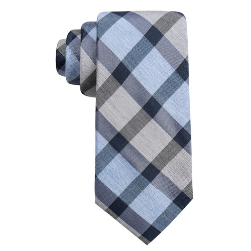 Ryan Seacrest Distinction Men's Besalu Plaid Slim Tie Blue Size Regular