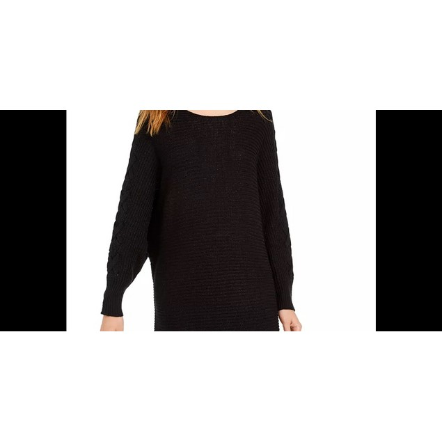 American Rag Juniors' Lace-Up Tunic Sweater Black Size X-Small