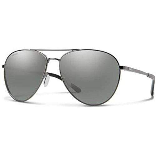 Smith Sunglasses for Men or Women Layback Ruthenium/Polarized Platinum Mirror