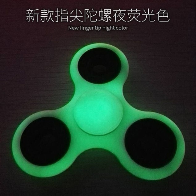 Glowing Plastic Fidget Spinner Anti Stress Toys