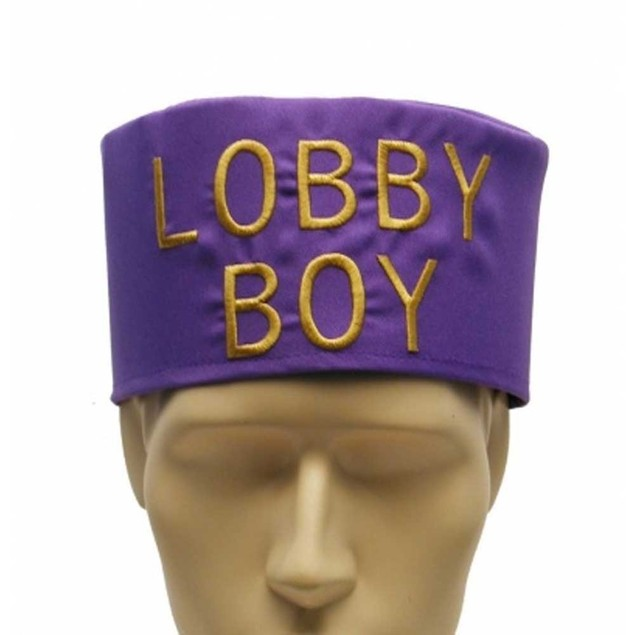 Lobby Boy Hat Grand Budapest Hotel Bell Hop Costume Purple Cap Movie