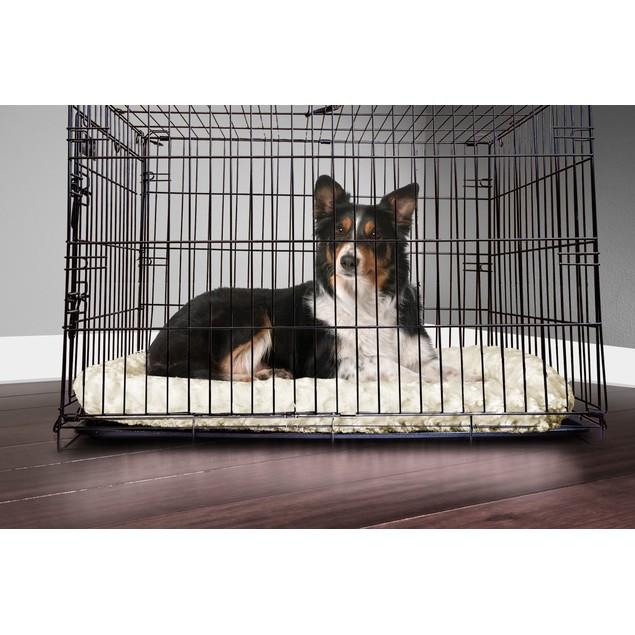 FurHaven Ultra Plush Bolster Pet Bed for Kennels & Crates